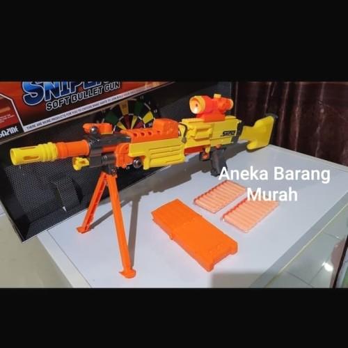 Foto Produk Nerf murah asli semi auto 7003B sniper pistol tembakan peluru busa sof dari aneka barang murah 2