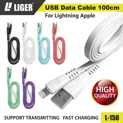 Foto Produk LIGER L-150 Kabel Data Fast Charging Original - iPhone - Putih dari LIGER OFFICIAL STORE