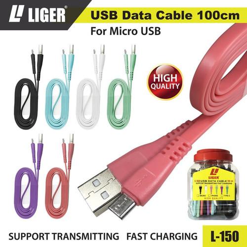 Foto Produk LIGER L-150 Kabel Data Fast Charging - MICRO - Merah Muda dari LIGER OFFICIAL STORE