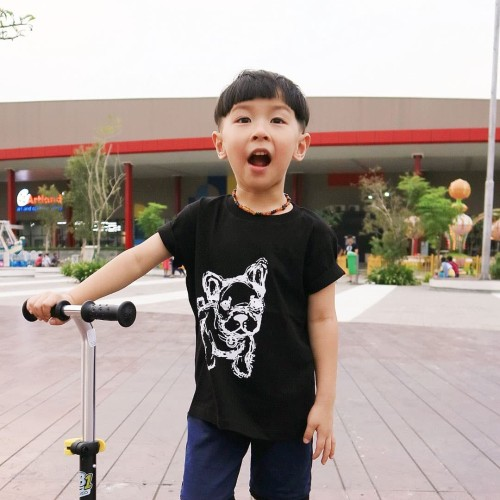 Foto Produk Kaos Anak - Anak | L072 Pug Tee by Little Jergio - Small dari Little Jergio