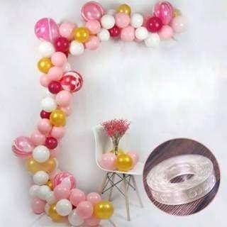 Foto Produk STRIP BALON ROLL perlengkapan dekorasi pesta party pernak pernik ultah dari Unike Accesories