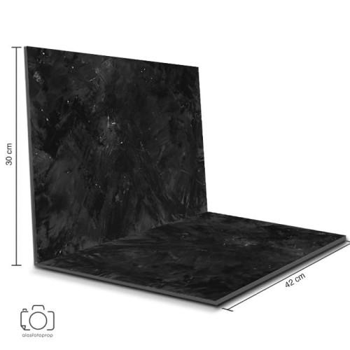 Foto Produk Alas Foto Lipat Semen Hitam 42x30cm / Background Foto Produk (CL-03) dari alasfotoprops