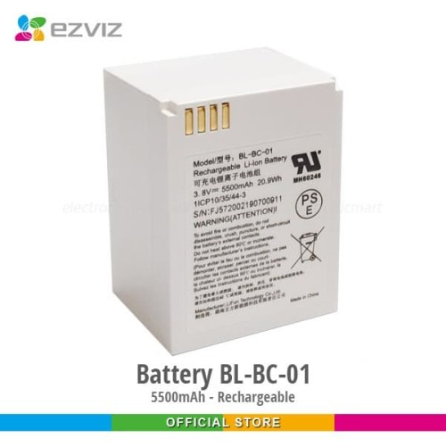 Foto Produk Ezviz Rechargeable Li Ion Battery 5500mAh BL-BC-01 for C3A dari Ezviz Official Store