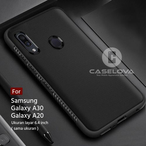Foto Produk Case For Samsung Galaxy A30 A20 Protection Anti Slip TPU - Hitam dari Caselova Store
