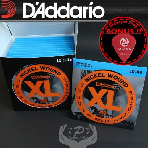 Foto Produk Daddario EXL 110 0.10 Senar Gitar Elektrik String ORI Original Dadario dari PraiseyahShop