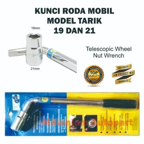 Foto Produk KUNCI RODA MOBIL MODEL TARIK MERK GS UKURAN 19 - 21 VANADIUM CHROME dari Millenium Autopart