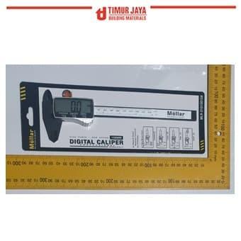 Foto Produk MOLLAR Jangka Sorong Sigmat DigitalVernier Caliper LCD Screen dari TOKO BESI TIMUR JAYA