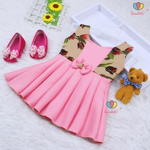 Foto Produk Dress Clairine Baby uk 0-6 Bulan / Pakaian Anak Perempuan Yukensi Bayi - Motif Random dari Kios Balita Fawa