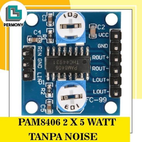 Foto Produk PAM8406 2x5W PAM 8406 2 x 5 Watt STEREO DIGITAL AMPLIFIER 5W Modul dari PerMony