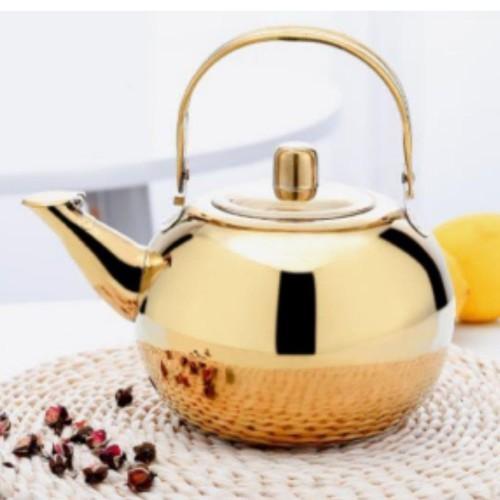 Foto Produk Ketel / Teko / Ceret / Tea Mini Pot EMAS 1.8Liter Stainless PLUS SARIN dari sinar arjuna