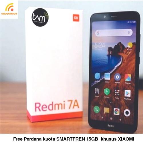 Foto Produk Xiaomi Redmi 7A Ram 2/16GB Garansi Resmi TAM - Hitam dari OVANST0RE