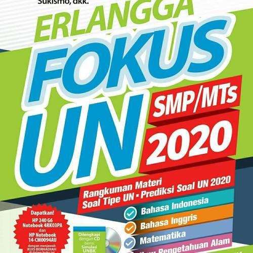 Foto Produk Buku Kumpulan Soal Latihan UN ERLANGGA FOKUS UN SMP/MTs 2020 plus CD dari Liza Sentosa