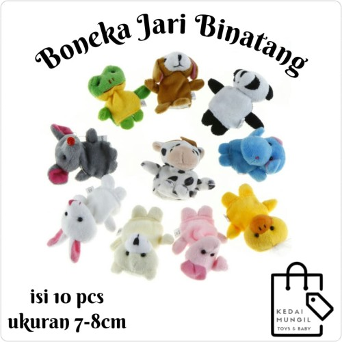 Foto Produk Boneka Jari Seri Binatang (Animal Finger Puppet) dari Kedai Mungil