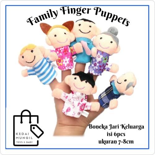 Foto Produk Boneka Jari Seri Keluarga (Family Finger Puppet) dari Kedai Mungil