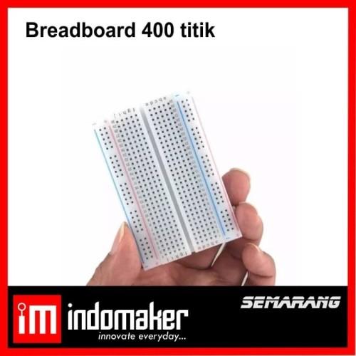 Foto Produk [i5] - Breadboard 400 titik lubang Bread board Projectboard Arduino dari indomaker
