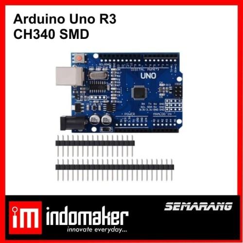 Foto Produk [A8] - Arduino Uno R3 clone SMD CH340 CH 340 CH340G 340G dari indomaker
