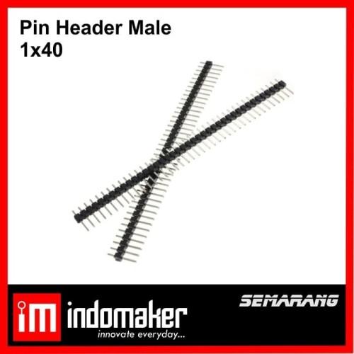 Foto Produk [J4] - Pin Header Male 1x40 Single Row 40p 40 Pin Hitam Tulang Ikan dari indomaker