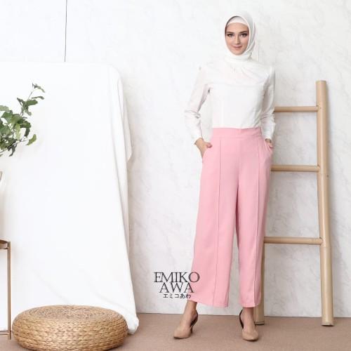 Foto Produk Celana Kulot Wanita Premium - Emikoawa Celana Panjang Wanita Murah - Pink dari emikoawa