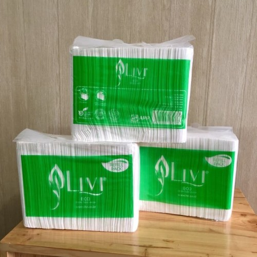 Foto Produk Tissue LIVI ECO Facial refill 600s dari iPanda Plastik Plasindo