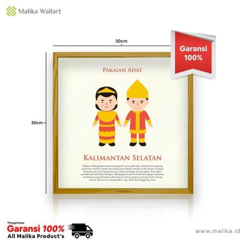 Foto Produk Hiasan Dinding Infografis Pakaian Adat Dari Kalimantan Selatan dari malikawallart