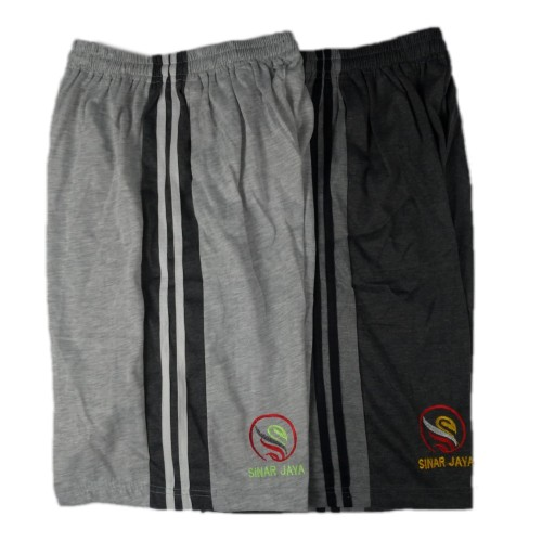 Foto Produk Celana Pendek Polos Santai Kaos 7/8 Jumbo - Abu Muda Misty, XXXL dari JuraganKolor