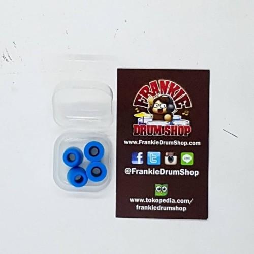 Foto Produk Earbud EB-BL2 - Blue Foam 2pair EarTips Universal Earphone Accessories dari FrankieDrumShop