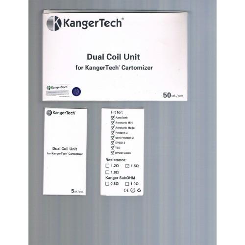 Foto Produk Authentic KangerTech Dual Coil 1.5 ohm resistance (5 pcs) dari terminal vapor