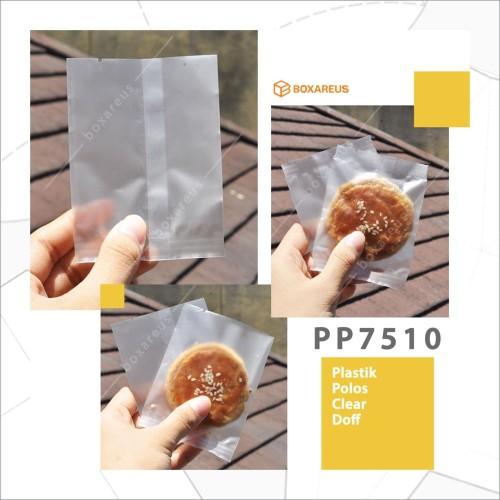 Foto Produk PP7510 | Pouch Cookie Plastik /Plastik Kue Polos Clear Doff /Packaging dari Box Are Us