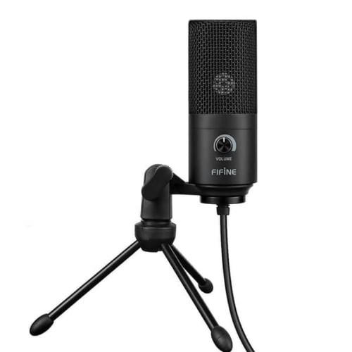 Foto Produk Mic fifine K669B - USB Condenser Mike with Volume Control Gaming dari luxer
