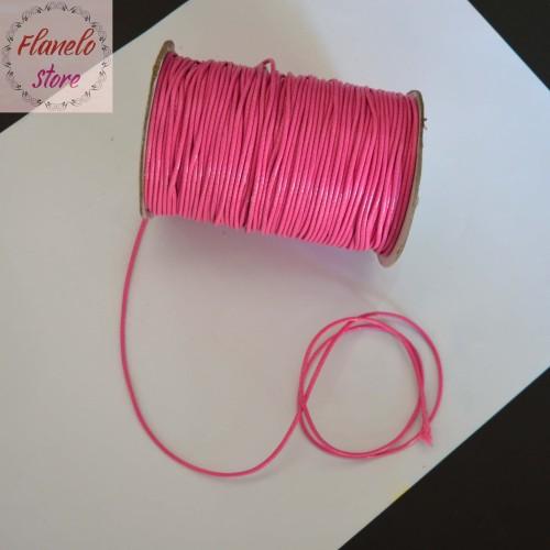 Foto Produk Tali Korea Bahan Gelang Kalung Craft 1,5 mm Warna Pink - Per Meter dari Flanelo Store