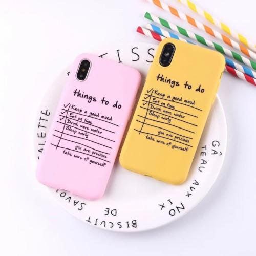 Foto Produk Productive Notes Case Iphone 6 6S + plus 7 8 X XR XS MAX soft simple - Kuning dari Caseayangan ID