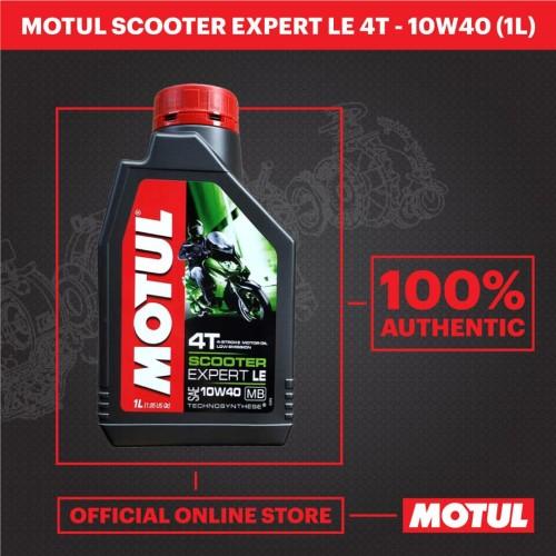 Foto Produk MOTUL Scooter Expert LE 10W40 1 Liter dari Motul Indonesia