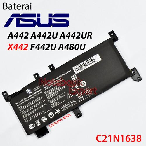 Foto Produk Baterai ASUS A442 A442U A442UR X442 F442U A480U (C21N1638) dari notebookexpert