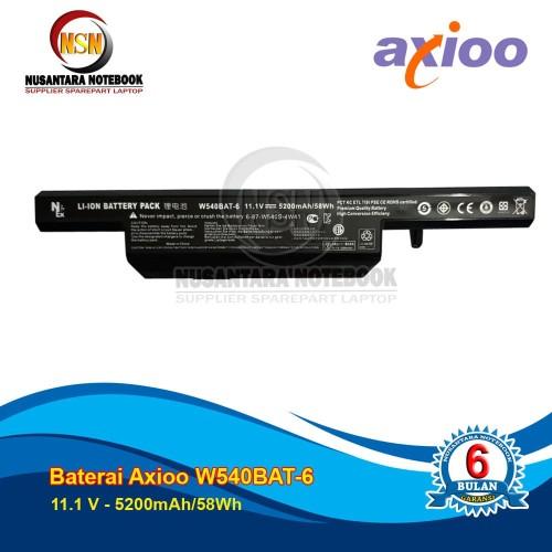 Foto Produk Baterai Axioo Neon RNE Clevo W540 Series W540BAT-6 11.1V - 5200mAh OEM dari Nusantara Part Laptop