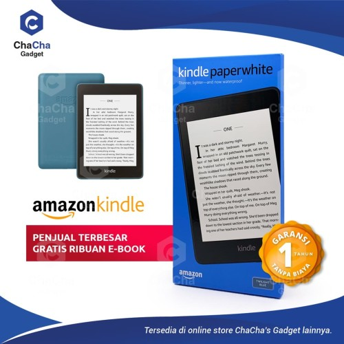 Foto Produk Amazon Kindle Paperwhite eBook Reader Waterproof 32GB Ads Blue dari ChaCha's Gadget
