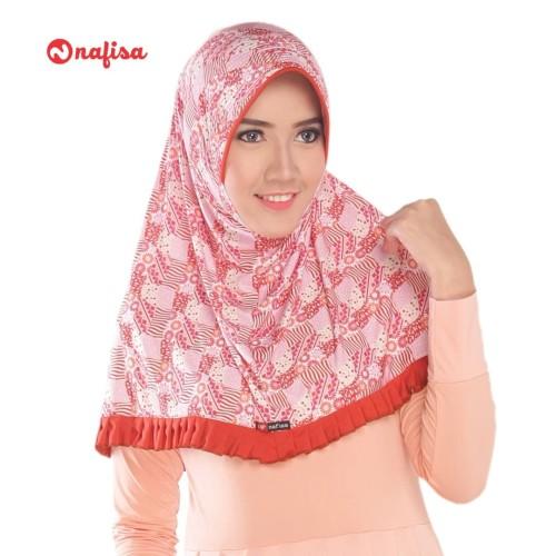 Foto Produk Nafisa Erlinda | Jilbab Instan motif | Hijab Instan Bergo dari Nafisa