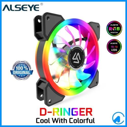 Foto Produk Alseye D-Ringer Dringer Auto RGB LED Fan Casing 12cm Case Fan Dringer dari Artica Computer