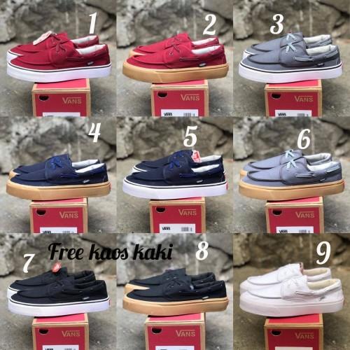 Foto Produk Vans zapato size 39 - 43 sepatu Pria sneakers sekolah hitam navy dari eno ajjh