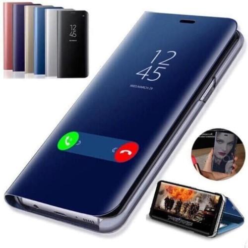 Foto Produk Oppo A5 2020 / A9 2020 Flip Mirror Case Cover Clear View Stand Casing dari Indo Smart Acc