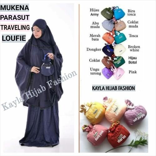 Foto Produk Mukena Parasut Traveling Loufie dari kayla hijab fashion
