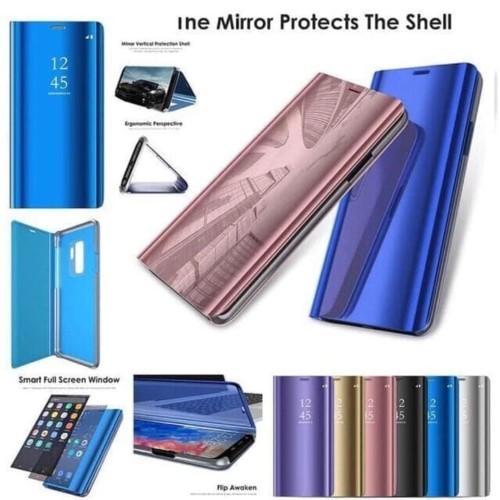 Foto Produk Samsung A01 Flip Mirror Case Sarung Clear View Standing Casing Cover dari Indo Smart Acc