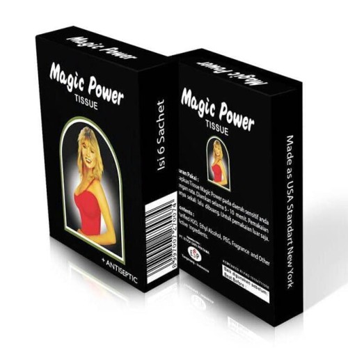 Foto Produk Tissu Super Magic power, antiseptic pria, tahan lama dari Herbalindo_Jatinegara