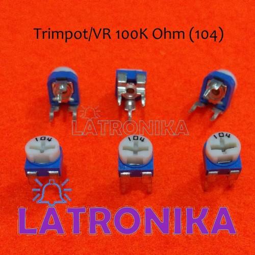 Foto Produk Trimpot 100k Potensio 100k VR 104 Variable Resistor Potensiometer 100K dari Latronika