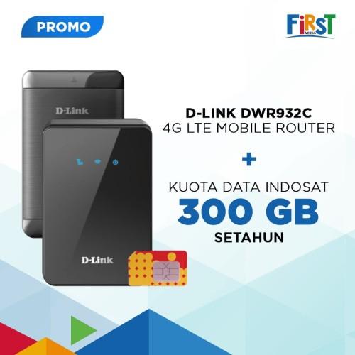 Foto Produk Dlink DWR-932C 4G LTE Mobile Router + Kuota Indosat 300 GB dari First Media Store