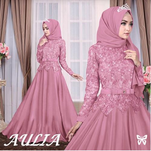 Jual Gamis Brokat Pink Baju Gamis Wanita Terbaru Set Pasmina Jakarta Pusat Maudye Shop Tokopedia