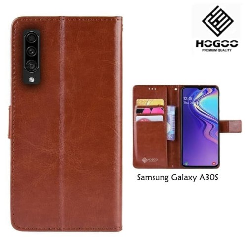Foto Produk FLIP COVER HOGOO SAMSUNG A30S WALLET LEATHER|FLIP DOMPET KULIT dari Accessories Solution(AS)
