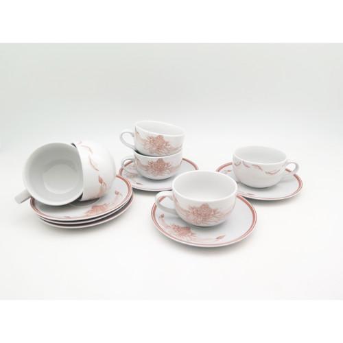 Foto Produk Cangkir / Tea Set 12pcs Kecombrang Brown dari TAFEL21