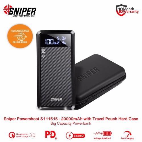 Foto Produk Sniper Powershoot Powerbank S111515 20000mAh with Travel Pouch Premium dari Sniper Indonesia