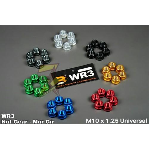 Foto Produk Mur Gir Nut Gear Belakang WR3 Universal CBR250RR NINJA250 R25 R6 ZX636 - Biru dari MOTOBLINKZ