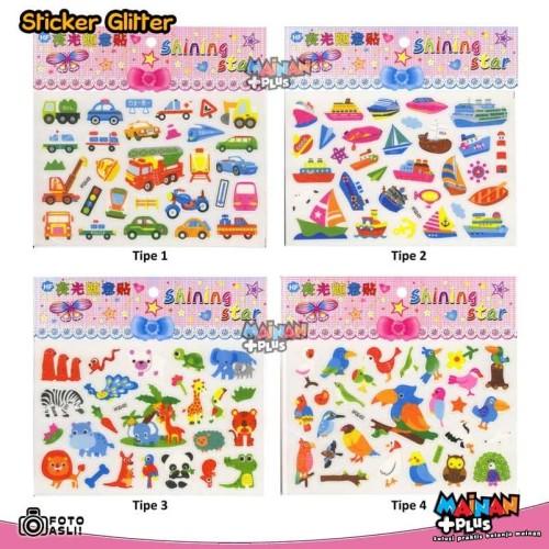 Foto Produk Stiker Anak - Sticker Glitter Lucu dari MainanPlus